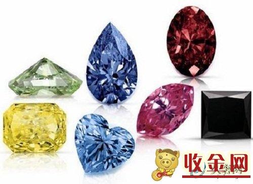 异型钻石和圆形钻石回收