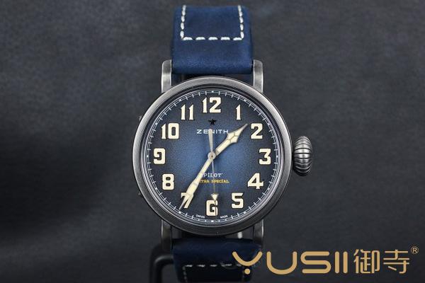 真力时大飞系列钢款复古手表的回收行情